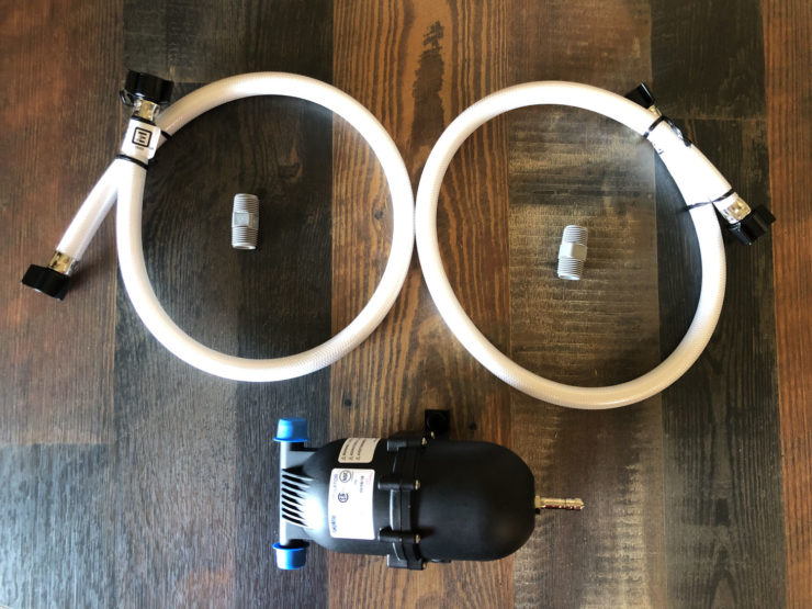 Photo of the parts ready for installation
