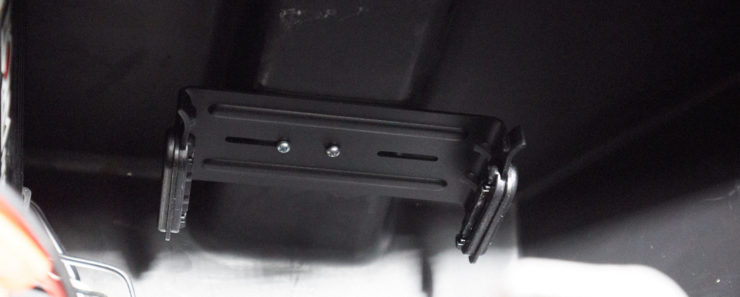 Photo of the head unit bracket mounted