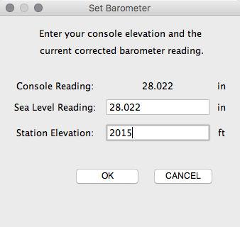 Weather Link Set Barometer (step 5) screenshot