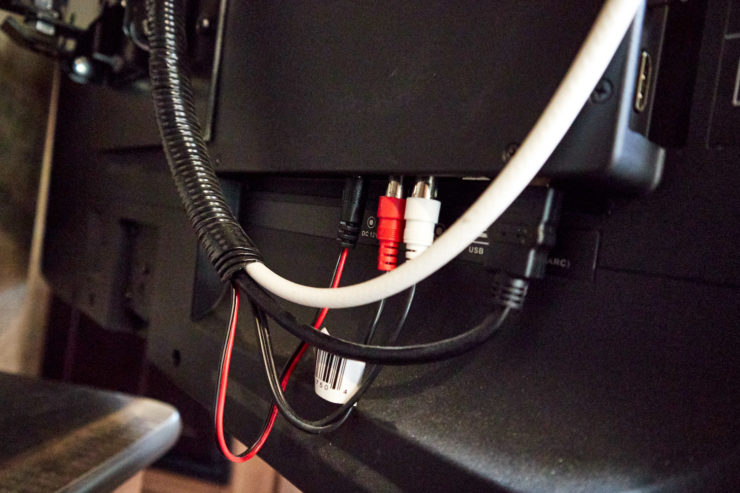 Photo of the existing wiring